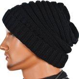 FORBUSITE Men's Cuffed Chunky Knitting Woolly Beanie Winter Hat Unisex Cap B825
