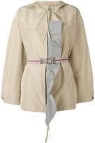 Prada hooded belted jacket