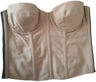 Gianfranco Ferre Beige Cotton Top for Women