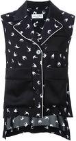 Sonia Rykiel 'front pocket hi-lo' shirt - women - Spandex/Elastane/Viscose - 34