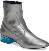 Topshop 'Aubergine Perspex' Clear Heel Bootie (Women)