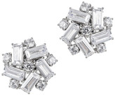 CZ by Kenneth Jay Lane - Baguette Button Earrings