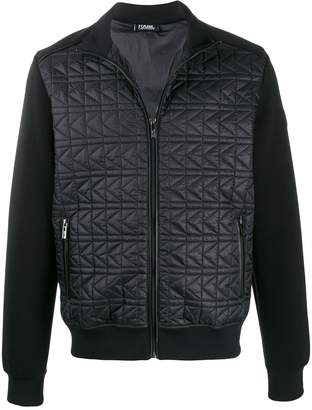 Karl Lagerfeld Paris quilted-effect bomber jacket