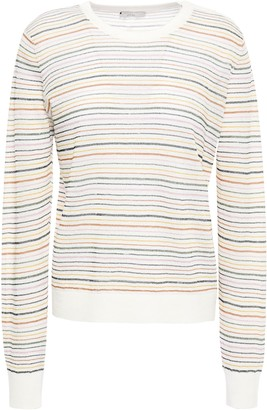 Joie Striped Linen-blend Sweater
