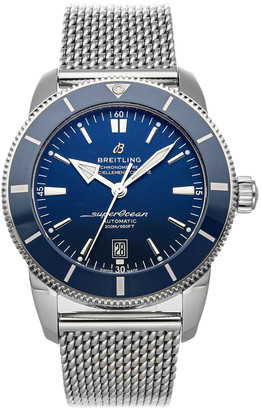 Breitling Blue Stainless Steel Superocean Heritage B20 AB2020161C1A1 Men's Wristwatch 46 MM