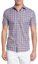 Peter Millar Men's Destination Plaid Short Sleeve Sport Shirt