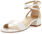 Stuart Weitzman Peewee Patent City Sandal, White