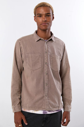 BDG Washed Flannel Long Sleeve Button-Down Shirt