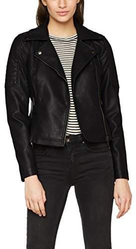 Noisy May Women's Nmrebel L/s Pu Jacket - Noos Jacket,8 (Manufacturer Size: )