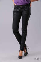 Unknown Factory Zipper Pocket Skinny Jeans in Black Wax