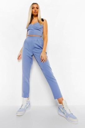 boohoo Slouchy Pleat Front Tailored Trousers
