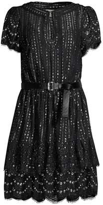 MICHAEL Michael Kors Lux Metallic Lace Dress
