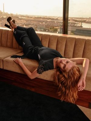 Tommy Hilfiger Exclusive Black Crepe Jumpsuit