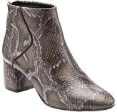 John Lewis Ona Block Heeled Ankle Boots, Snake