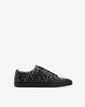 Express Snakeskin Textured Lace-Up Sneakers
