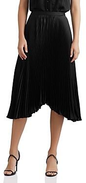 Bailey 44 Solid Logan Pleated Midi Skirt