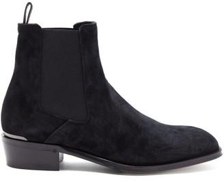 Alexander McQueen Suede Chelsea Boots - Black