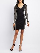 Charlotte Russe Mesh-Sides Bodycon Dress