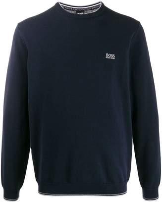 BOSS embroidered logo sweatshirt