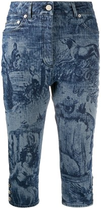 Moschino Printed Below-The-Knee Jeans
