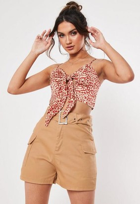 Missguided Tall Sand Cargo Shorts
