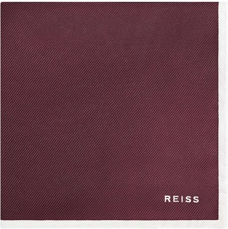 Reiss MOON SILK POCKET SQUARE Bordeaux