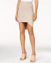 Kensie Faux-Suede Asymmetrical Skirt
