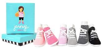 Trumpette Girls' Jenny Sneaker Socks, Set of 6 - Baby