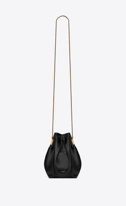 Saint Laurent Bucket Bag Talitha Small Bucket Bag In Smooth Leather Black Onesize