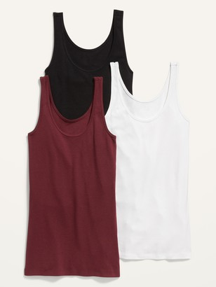 Old Navy First-Layer Rib-Knit Tank Top 3-Pack for Women