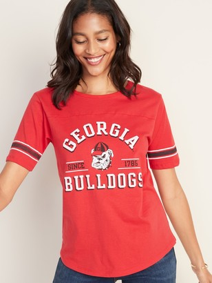 "Old Navy University of Georgia ""Georgia Bulldogs Since 1785"" Sleeve-Stripe Tee for Women"