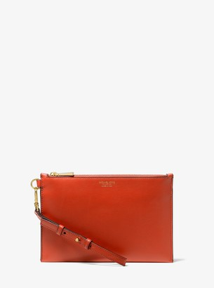 Michael Kors Collection Leather Wristlet