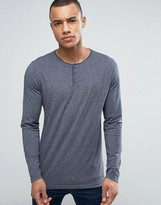 Tommy Hilfiger Long Sleeve Henley in Navy Marl