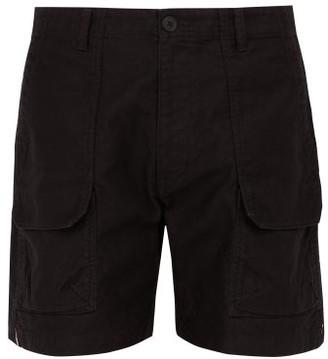 Snow Peak Oversized-pocket Cotton-blend Shorts - Mens - Black