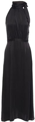 Zimmermann Tie-neck Washed-silk Maxi Dress