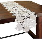 The Holiday Aisle Shimmer Snowflake Embroidered Cutwork Table Runner