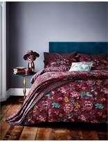 V&A Oriental Peony 100% Cotton Bedspread Throw
