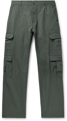 Martine Rose Grow Cotton-Ripstop Cargo Trousers - Men - Green