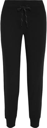 DKNY Appliqued French Cotton-blend Terry Track Pants