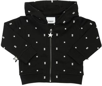 Burberry Zip-Up Cotton Sweatshirt Hoodie