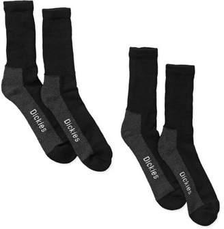 Dickies Genuine Men's Non-Binding Steel Toe Crew Socks, 2-Pack