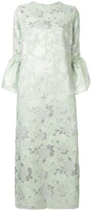 Bambah Camelia floral embossed dress