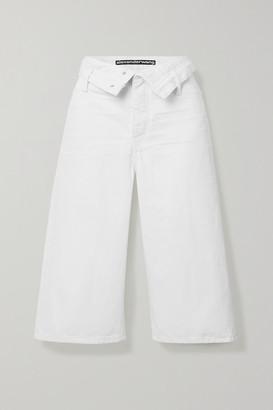 Alexander Wang Scout Flip Fold-over Denim Shorts - White