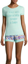 Asstd National Brand Shorts Pajama Set-Plus