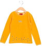 Kenzo Girls' Velvet Embroidered Top
