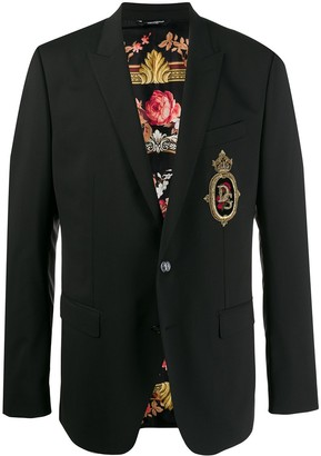 Dolce & Gabbana Martini patch jacket