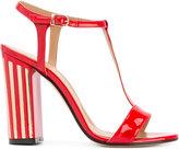 Marc Ellis metallic detail T-strap sandals