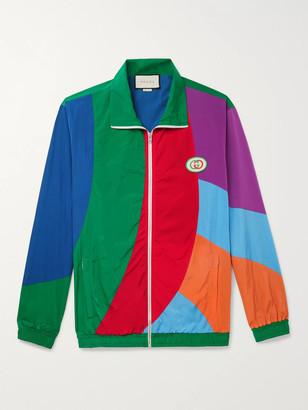 Gucci Logo-Appliqued Colour-Block Nylon Track Jacket - Men - Multi