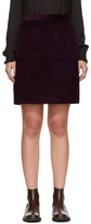 A.P.C. Burgundy Corduroy Pockets Miniskirt