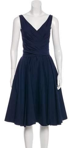 Talbot Runhof Sleeveless A-Line Dress
